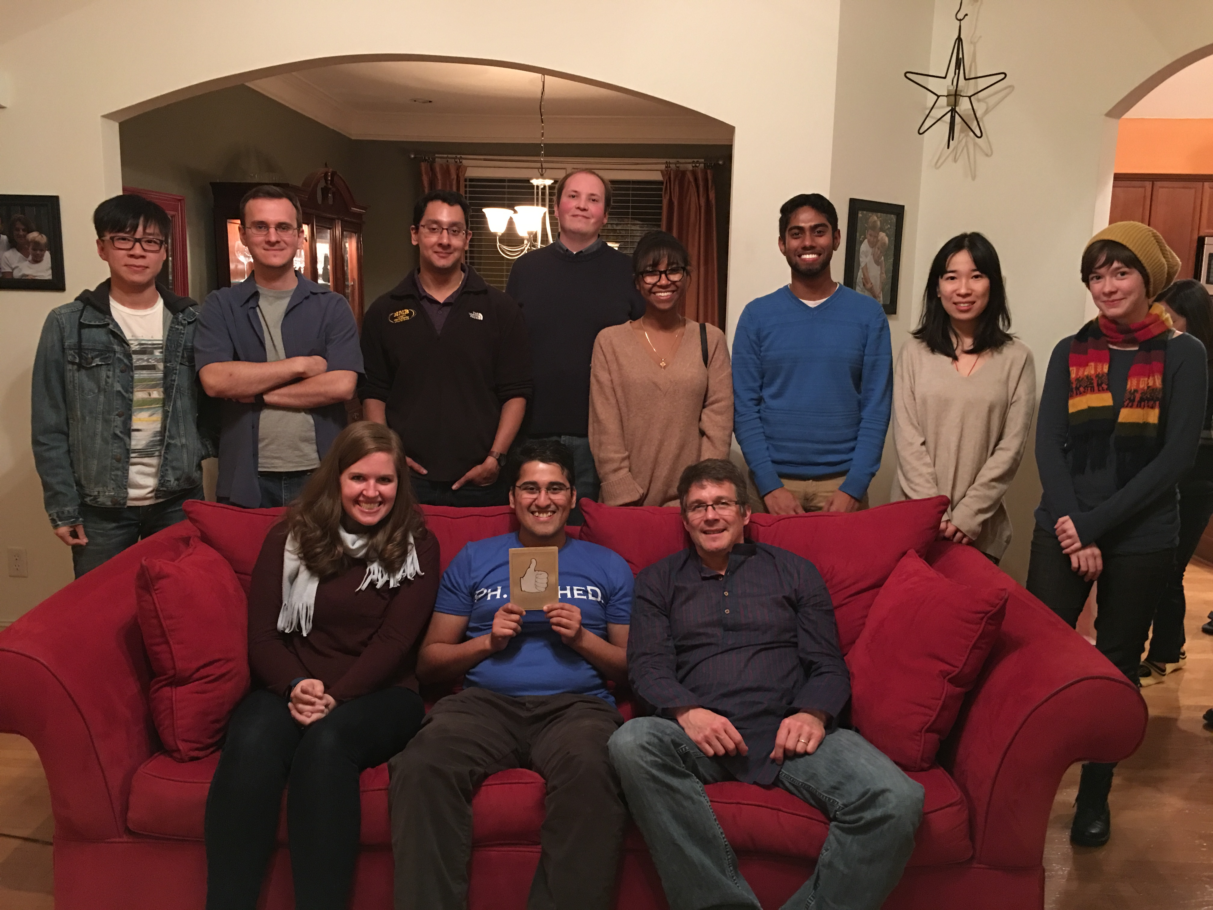 Party for Samit's defense and the holiday season at Brian's!