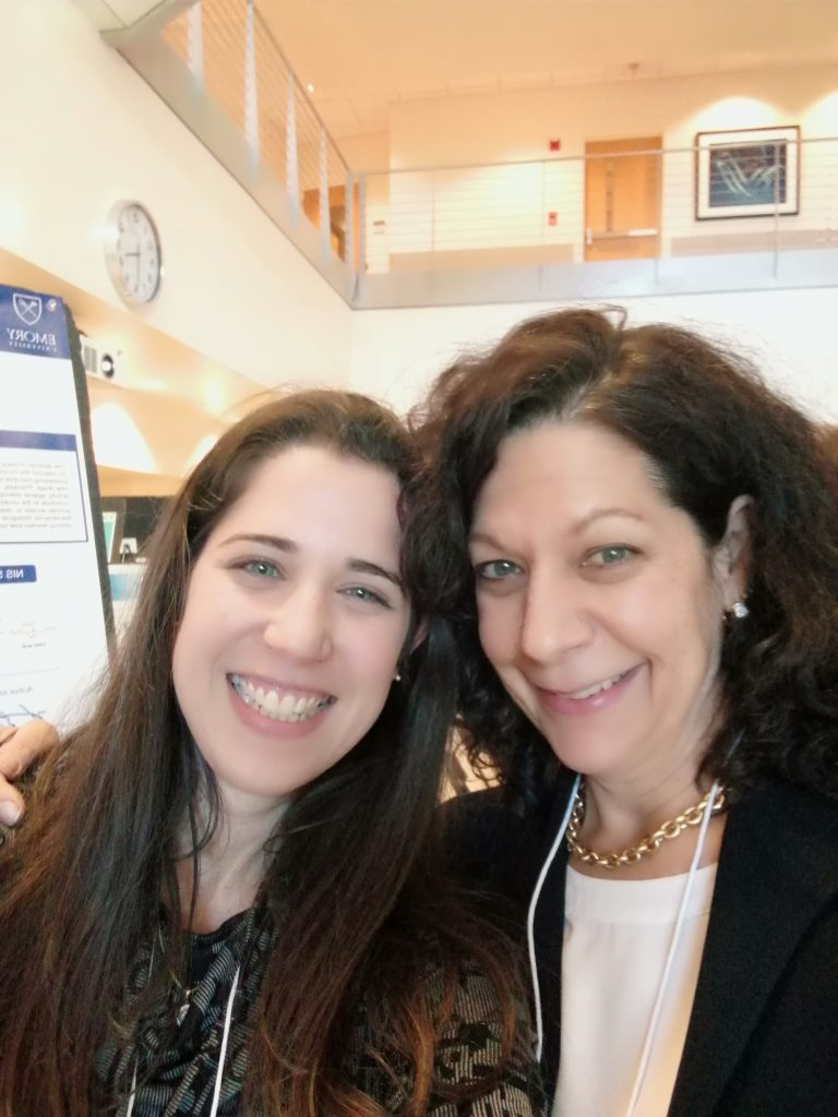Visiting PhD student Rotem Sela from Israel gets a selfie with Bonnie Bassler at the 2108 Suddath Symposium at GT!